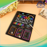 Rainbow Scratch Art Bloc-notes papier fait main papier dessin magique des jouets d'imagination