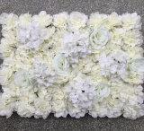 Cenário de decoração de casamento Rosa Seda na parede de flores artificiais