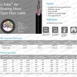 Al aire libre Gcyfy tubo en U Air-Blowing Micro Cable de fibra óptica para la instalación en el tubo
