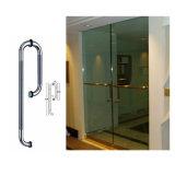 Maniglia moderna della doccia, maniglia di vetro dell'acciaio inossidabile del portello della stanza da bagno