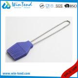 Balai chaud de silicones de certificat de la vente LFGB pour le traitement au four et BBQ avec le traitement de fil