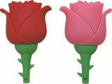 USB istantaneo di Fower di modo del regalo del PVC Rosa dell'azionamento creativo del USB