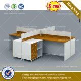 Estructura de aluminio de la pared de cristal cubículos de clúster de la partición de la estación de trabajo de oficina (HX-8NE051)