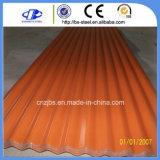 Chapa de aço Prepainted Bobina de Aço Galvanizado Cor de folha de metal corrugado