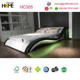 Het moderne Dubbele Bed van het Leer met LEIDEN Licht (HC305)