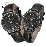 De Mannen en de Vrouwen van het Horloge van het Paar van Belbi vormen het Toevallige Eenvoudige Horloge van de Liefde van het Leer van de Diamant