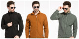 까만 전술상 가을 방풍 Breathable 재킷 온난한 격자 양털 외투