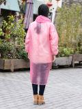 安いカスタム人PVC/Polyester PVCプラスチック頑丈なカスタムレインコート、Rainwear