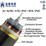 3.6/6kv 고압선 IEC 60502에 3개의 코어 케이블