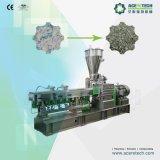 Diseño europeo de la extrusora de plástico de doble husillo rallar la máquina para botellas PET