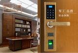Bloqueo de puerta biométrico independiente impermeable del programa de lectura de huella digital del metal lleno para el control de acceso