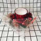 La Piña Decored rojo Electroplated Laurel Velas para Navidad