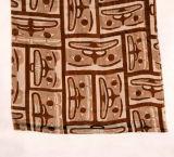 Brown-dünner natürlicher BambusGeometic gedruckter Schal (Hz51)