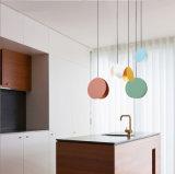 Pendente contemporâneo do diodo emissor de luz da cozinha do projeto tão maravilhoso que pendura a iluminação clara em Multi-Color