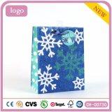 Блестящие цветные лаки рождества синий снег Паттен бумажных мешков для пыли. Подарок бумажных мешков для пыли, бумажных мешков для пыли