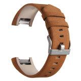 Klassisches echtes Leder-Abwechslungs-Uhrenarmband für Fitbit Ladung 2