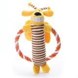 Netter Haustier-Plüsch-glückliche Baumwolseil-Puppefrisbee-Hundespielwaren