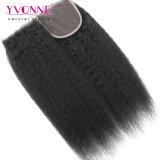 Diritto crespo dei capelli umani di Yvonne della chiusura malese del merletto
