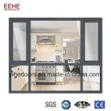 Prezzi di alluminio dell'interno di Windows di vetro di finestra di scivolamento