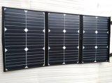 original solar portátil elástico macio flexível Foldable da fábrica do ISO do carregador do painel de potência do telefone móvel de 60W Sunpower