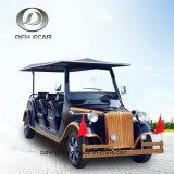 8대의 Seater 고전적인 포도 수확 밴 골프 트롤리 전기 차량