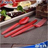 La couleur rouge JX131 Set de couverts en plastique