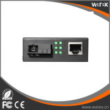 Qualität Meida Konverter 1X 10/100/1000Base-T RJ45 1X 1000Base-X BIDI T1310/R1550nm einzelnen Faser zur Sc-20km