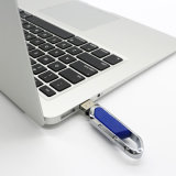 O costume grava o USB chave do USB Carabiner do flash do giro do metal do logotipo para ao ar livre escalar