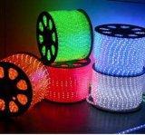 세륨 11mm 둥근 2개의 철사 LED 밧줄 빛 공정한 판단 220V 실내와 옥외 사용