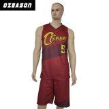 試供品はカスタム設計するあずき色のバスケットボールジャージーおよび不足分(BK018)を