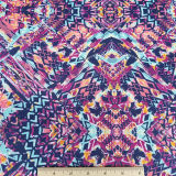 Linhas verticais étnicas coloridas tribais abstratas tela do Swimwear do Spandex do poliéster