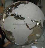 500mm en acier inoxydable Miroir brillant Hémisphère/sphère en acier creux avec épaisseur 3mm