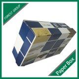 Una pieza de Zapata ondulado caja de embalaje con impresión a color