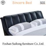 Reale lederne moderne Schlafzimmer-Möbel des Bett-Ys7017
