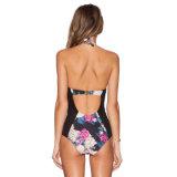 Bovenkant die de Strandkleding van de Zwarte Etnische Vrouwen Swimwear Uit één stuk van In het groot Sexy Dames verkopen