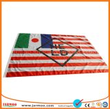 Venta caliente barato de nylon de alta calidad personalizado banderas