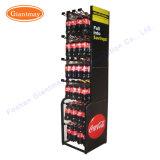 Супермаркет напольные подвешенные металлические бутилированной мягкий напиток напиток на дисплее системы хранения данных для установки в стойку