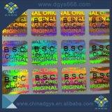 Rainbow Impression des étiquettes d'hologramme de couleur
