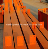 H-section de poutre en acier peint pour l'entrepôt bâtiment Structure en acier
