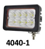 luz del trabajo de 12W 900lm 6500K 4-LED/luz corriente diurna/punto campo a través de la cara de la luz del trabajo del CREE LED del cuadrado de la luz de la lámpara/de niebla/luz del trabajo de la inundación LED
