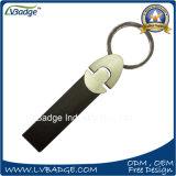 Kundenspezifisches Auto-Firmenzeichen-Metallleder-Schlüsselkette