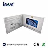 Aduana de la alta calidad tarjeta video del folleto del LCD de 5 pulgadas para el asunto/el regalo