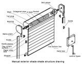Venster van uitstekende kwaliteit van het Blind van de Rol van de Zonneblinden van het Aluminium het Buiten