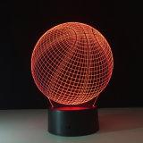 축구 /Soccer /Bascketball 의 접촉 스위치 단추 스위치를 가진 3D 밤 빛