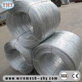 Fil obligatoire galvanisé de fil d'acier de relation étroite de bobine de fer
