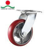 PU 무쇠 회전대 피마자 바퀴