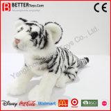 La peluche réaliste de tigre de la peluche En71 joue le tigre blanc mou