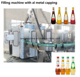 Máquina de Llenado de jugo de la botella de cristal con tapón de rosca de metal de torsión