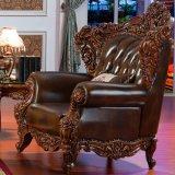 実質の革ソファーおよびコーヒーテーブルが付いているホーム家具