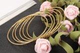 Großhandelsspitzengoldmarken-Schmucksachen verdünnen 2mm Pulseira Bracelet&Bangle Dubai Golddraht-Armband-Armband für Frauen-Mädchen